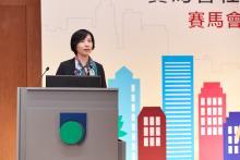 香港賽馬會慈善事務部主管(青年、教育及培訓、扶貧)應鳳秀女士致辭